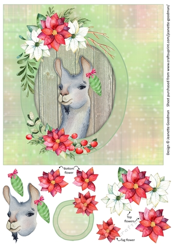 picture about Llama Printable titled Amusing Llama Printable Xmas Card