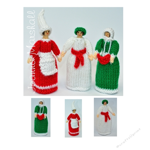 St Lucia Elf Amp Carol Singer Peg Doll Knitting Pattern