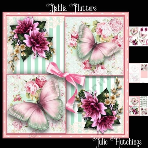 Dahlia Flutters Card Front Kit - CUP732430_1483   Craftsuprint