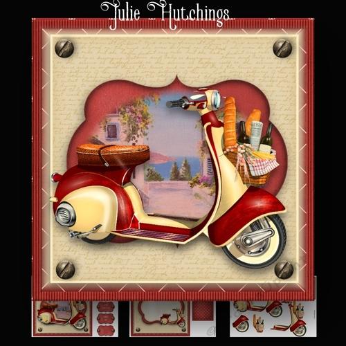 Moped Picnic Card Kit