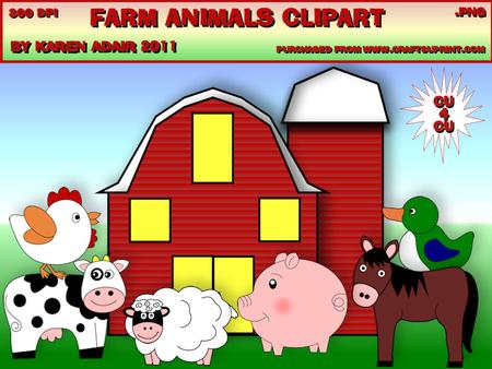 Farm Animals Cu4cu Clipart