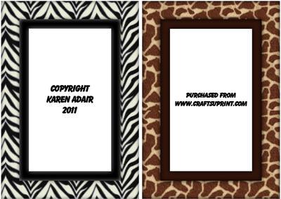 Animal Print Frames - ...