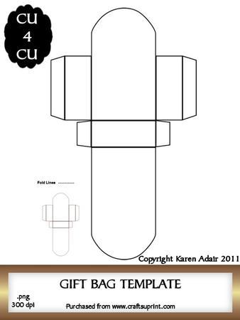 gift bag template cup189244 168 craftsuprint