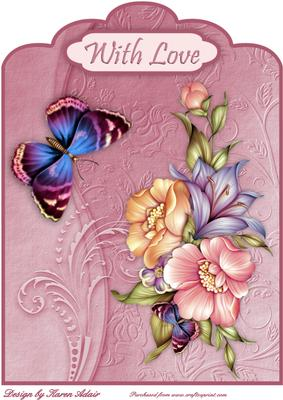 Blooms & Butterfly Bonanza Scallop Card Front - CUP332663