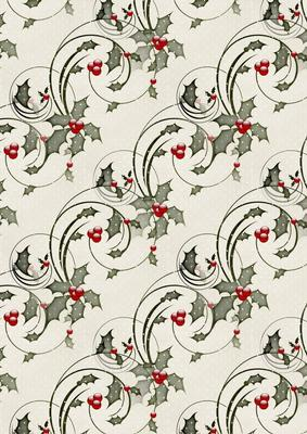 christmas holly background paper 3 cup259717_168 craftsuprint