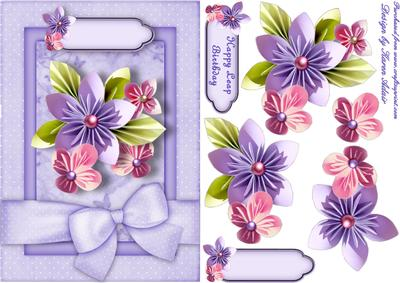 Folded flowers leap birthday card front and step by step folded flowers leap birthday card front and step by step cup290817168 craftsuprint m4hsunfo