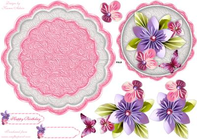 Over The Edge Hydrangea & Butterfly Mini Kit - CUP853880