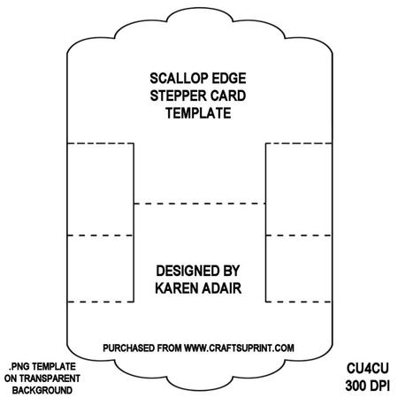 jumbo postcard template - scallop edge stepper card template cup321940 168