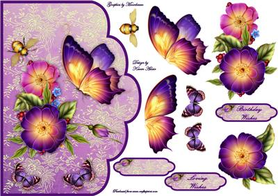 Pretty Petunias A4 Scallop Card Front - CUP337291_168