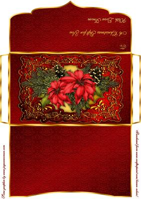 christmas poinsettia moneygift voucher wallet cup362306