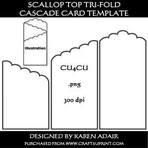 tri fold screen card template cup328979 168 craftsuprint. Black Bedroom Furniture Sets. Home Design Ideas