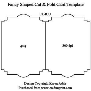 Fancy Shaped Cut & Fold Card Template - CUP326956_168 ...