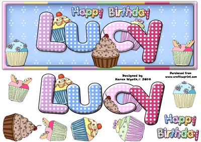 Happy Birthday Lucy Cup5564021056 Craftsuprint