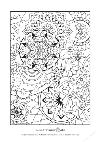 Digital Adult Coloring Page Zentangle Doodles Steampunk