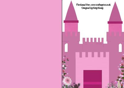 castle cut out template - fairytale princess castle a5 shaped front print fold
