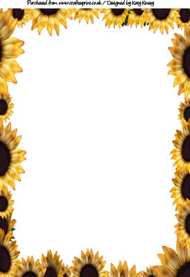 Sunflower Border Backing Paper Cup254961 572 Craftsuprint