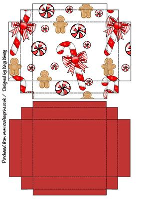 Gift Box With Lid Christmas Gingerbread Cup260873 572