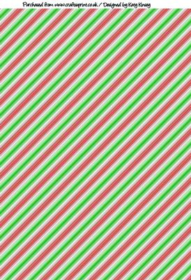 candy cane christmas stripes a4 backing paper cup272974 572