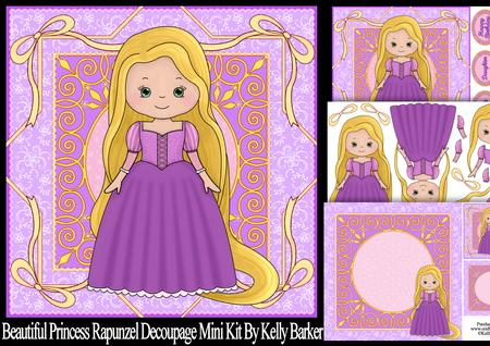 Beautiful Princess Rapunzel Decoupage Mini Kit - CUP670564_1028