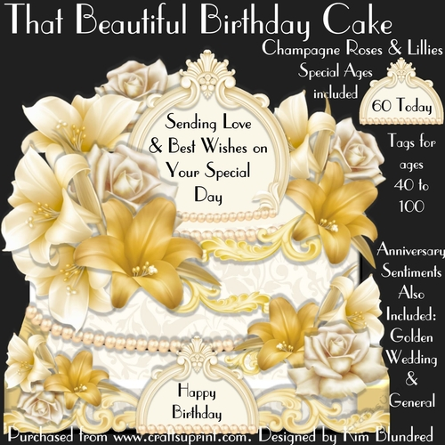Incredible That Beautiful Birthday Cake Champagne Roses Lillies Funny Birthday Cards Online Hetedamsfinfo