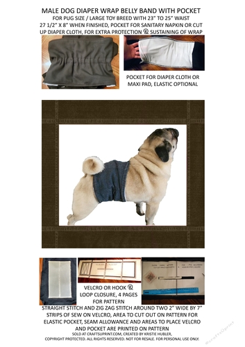 dog diaper wrap bellyband for pugs large toy breed sewing pattern download