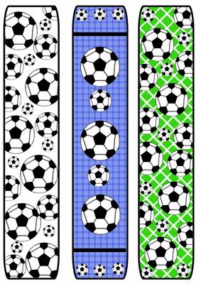 Football soccer bookmarks cup5777 craftsuprint for Diy bookmarks for guys