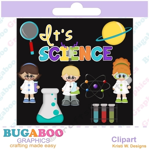 Little Scientists, Science Lab, Children, Kids - Instant Download -  Commercial Use Digital Clipart Elements Graphics Set