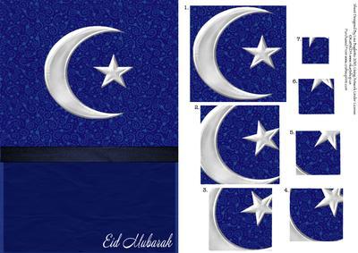 Eid Mubarak Twisted Pyramid Card Cup115982 614 Craftsuprint