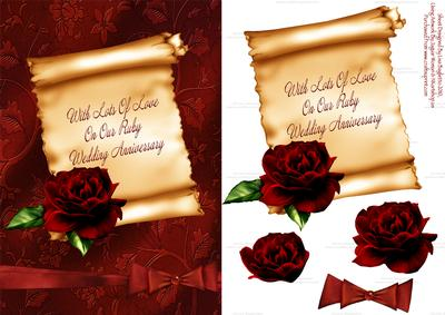 Our ruby wedding anniversary card cup130042 614 craftsuprint