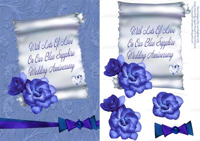 Our Blue Sapphire Wedding Anniversary Card Cup130047 614