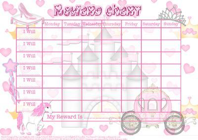 photo regarding Sticker Reward Chart Printable identified as Fantastic Princess - Childs Gain Chart