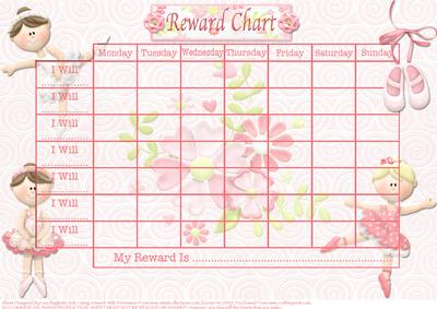 Beautiful Ballerina Child S Reward Chart Cup189803 614
