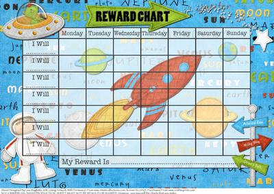 Out Of This World Child S Space Themed Reward Chart