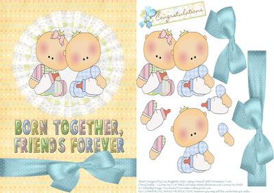born together new baby twins boy girl card cup91539 614