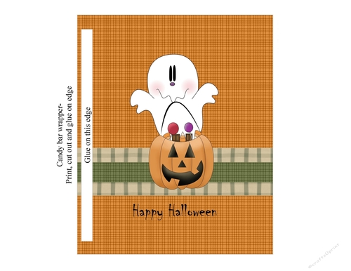 Ghost Candy Bar Wrapper Cup722906 1548 Craftsuprint