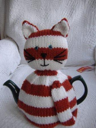 Striped Cat Tea Cosy Pattern Cup1903541100 Craftsuprint