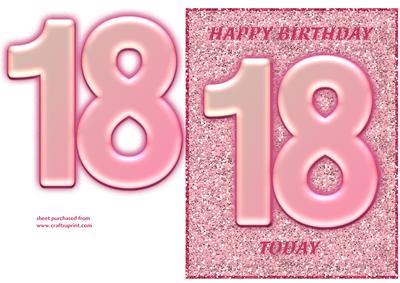 pink glitter 18th birthday cup203139 643 craftsuprint