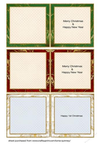 christmas teddies mini card inserts 3  cup908322643