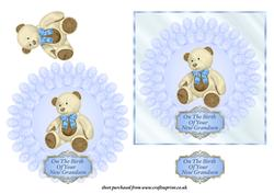 Birth Of Grandson Plate Card Cup331312 643 Craftsuprint