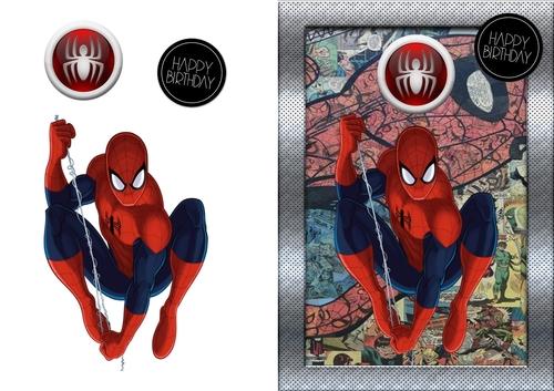 Spiderman Birthday Card Cup810241 83674 Craftsuprint