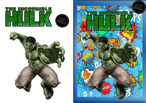 The Incredible Hulk Birthday Card Cup811656 83674 Craftsuprint