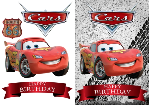 Cars Lightning Mcqueen Birthday Card Cup815145 83674