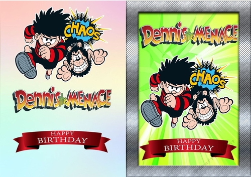 Dennis The Menace Birthday Card Cup82196283674 Craftsuprint