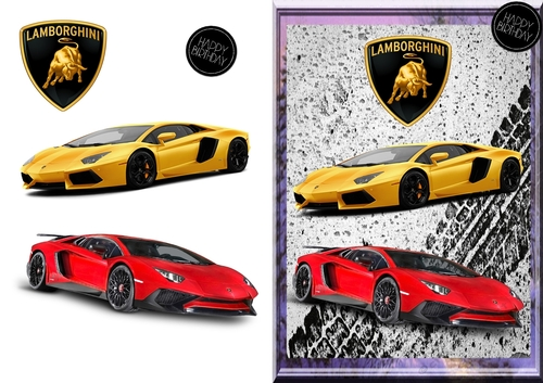 Lamborghini Birthday Card