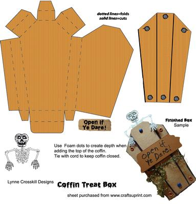 Halloween Coffin Treat Box Cup143170 866 Craftsuprint