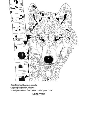Lone Wolf Digital Stamp Cup143183 866 Craftsuprint