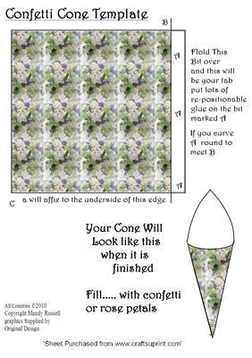 confetti cone template wedding templates cup60776 593 craftsuprint