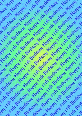 Happy 11th Birthday Background Cup170957 601 Craftsuprint
