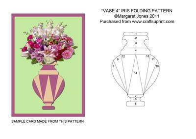 vase 4 iris folding pattern cup189496 601 craftsuprint