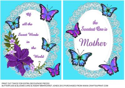 Mother Birthday Card Or Mothers Day With Insert